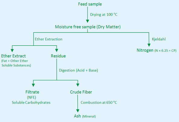 proximate analysis The analyses included in this group, also known as weende proximate analyses, are applied firstly to materials to be used in formulating a diet as a protein or energy.
